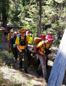 DCSAR Rescue Tumalo Falls Hiker