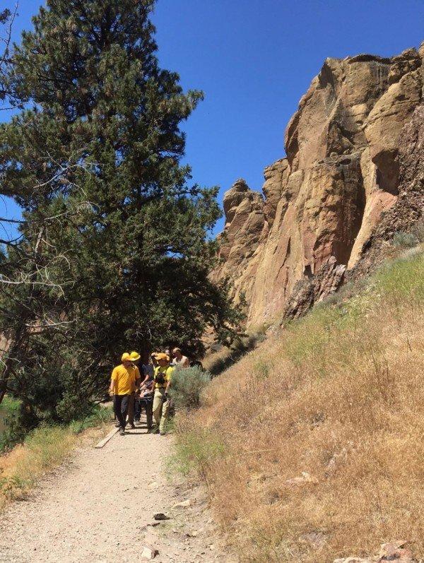 Smith Rock State Park, fallen climber