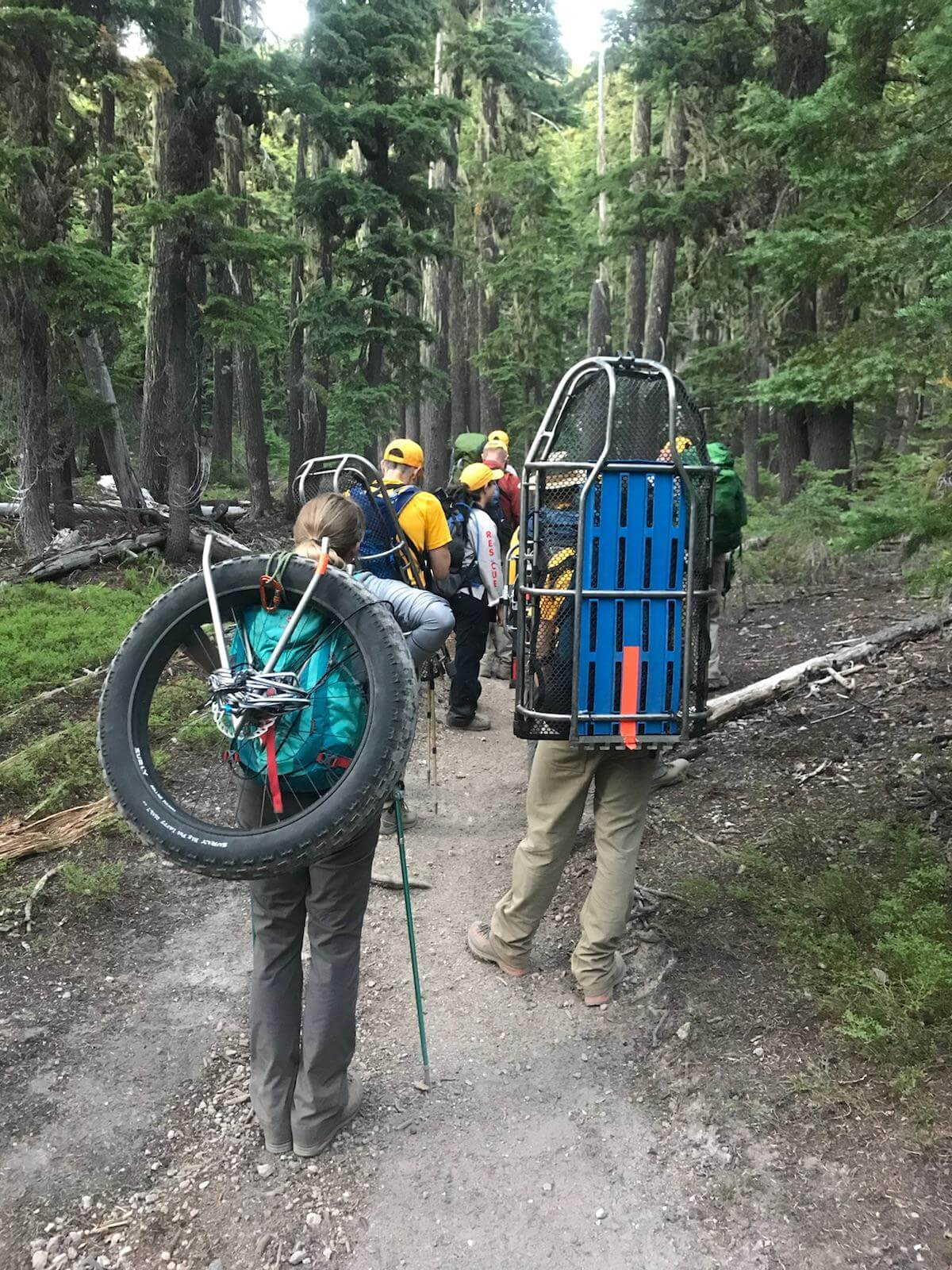 MEDICAL ASSIST ON SOUTH SISTER CLIMBER'S TRAIL