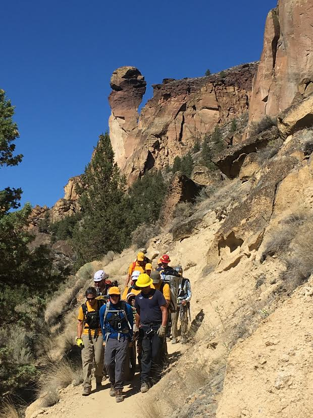 SMITH ROCK CLIMBER RESCUED AFTER BEING STRUCK IN HEAD BY ROCK