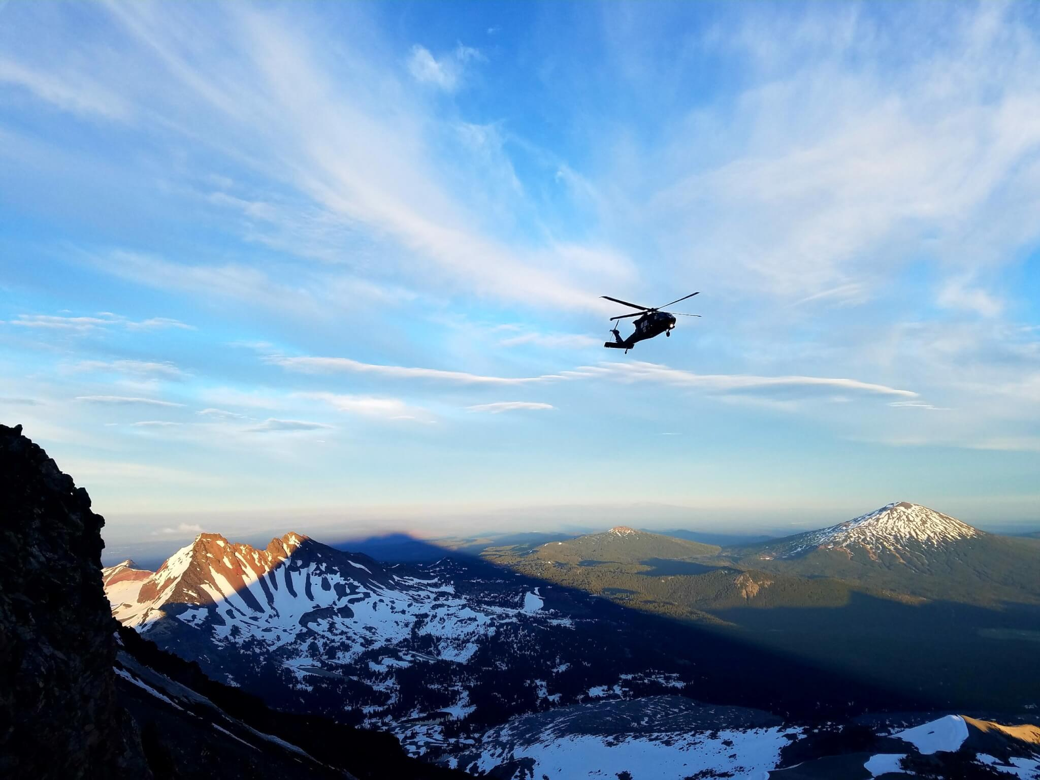 MAN RESCUED FROM SOUTH SISTER