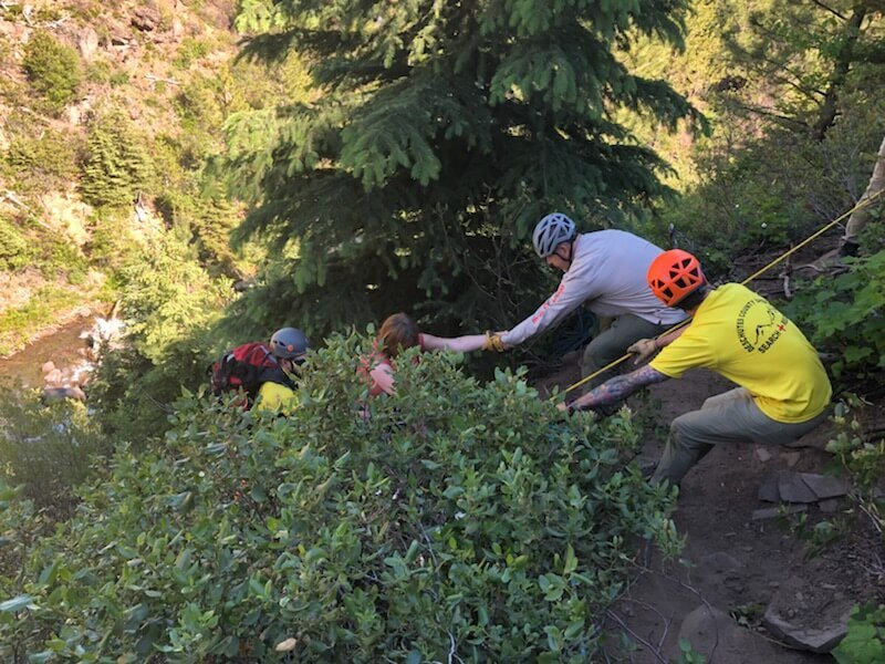HIKER RESCUED OFF STEEP EMBANKMENT AT TUMALO FALLS