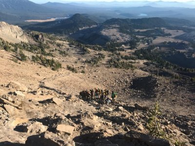 Fallen Hiker rescued on South Sister