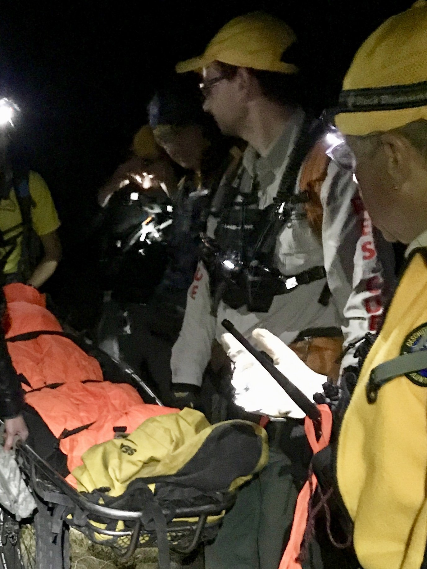 INJURED MOUNTAIN BIKER RESCUED NEAR SWAMPY LAKES SNOW PARK