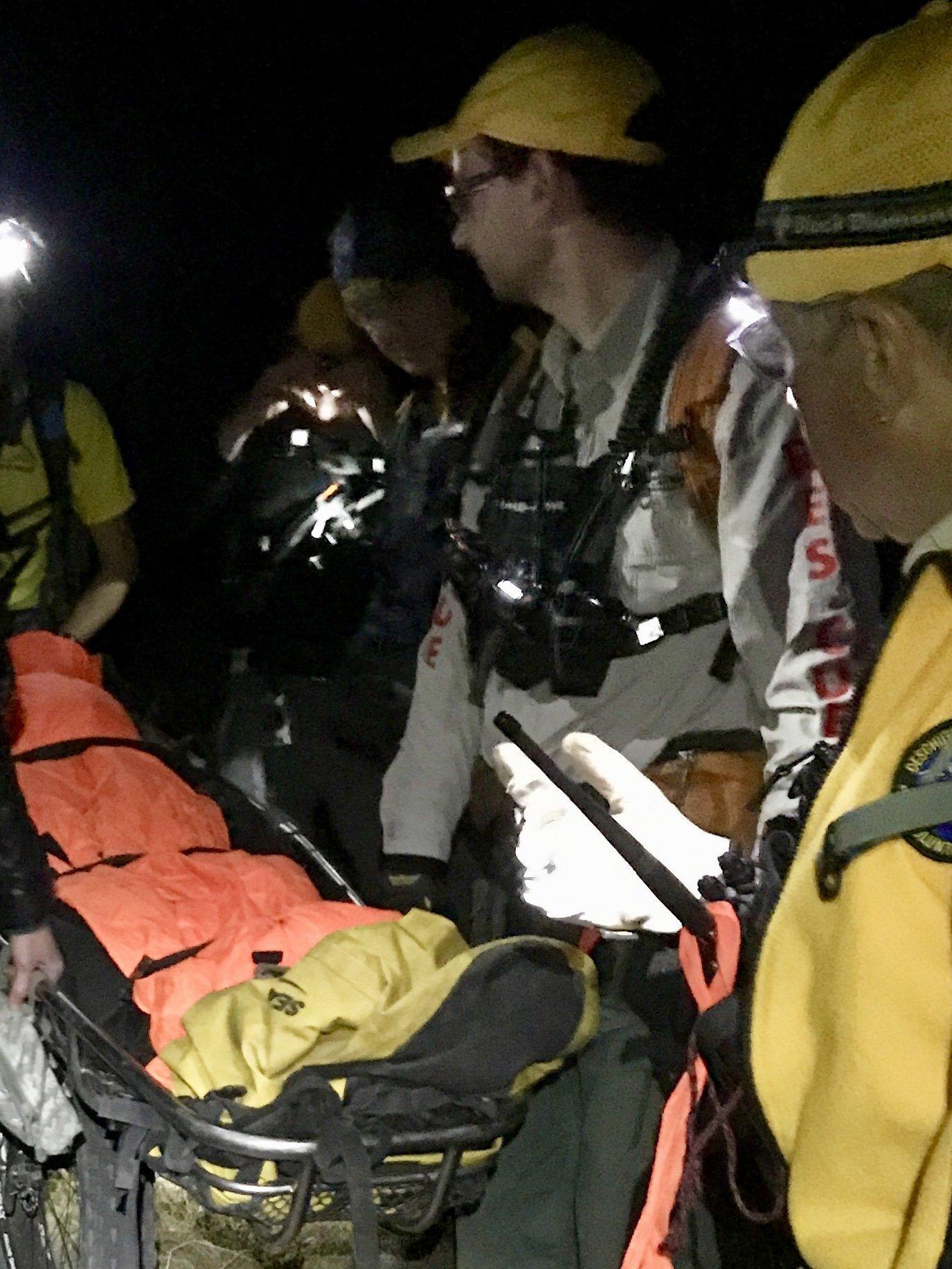 INJURED MOUNTAIN BIKER RESCUED NEAR SWAMPY LAKES SNOW PARK
