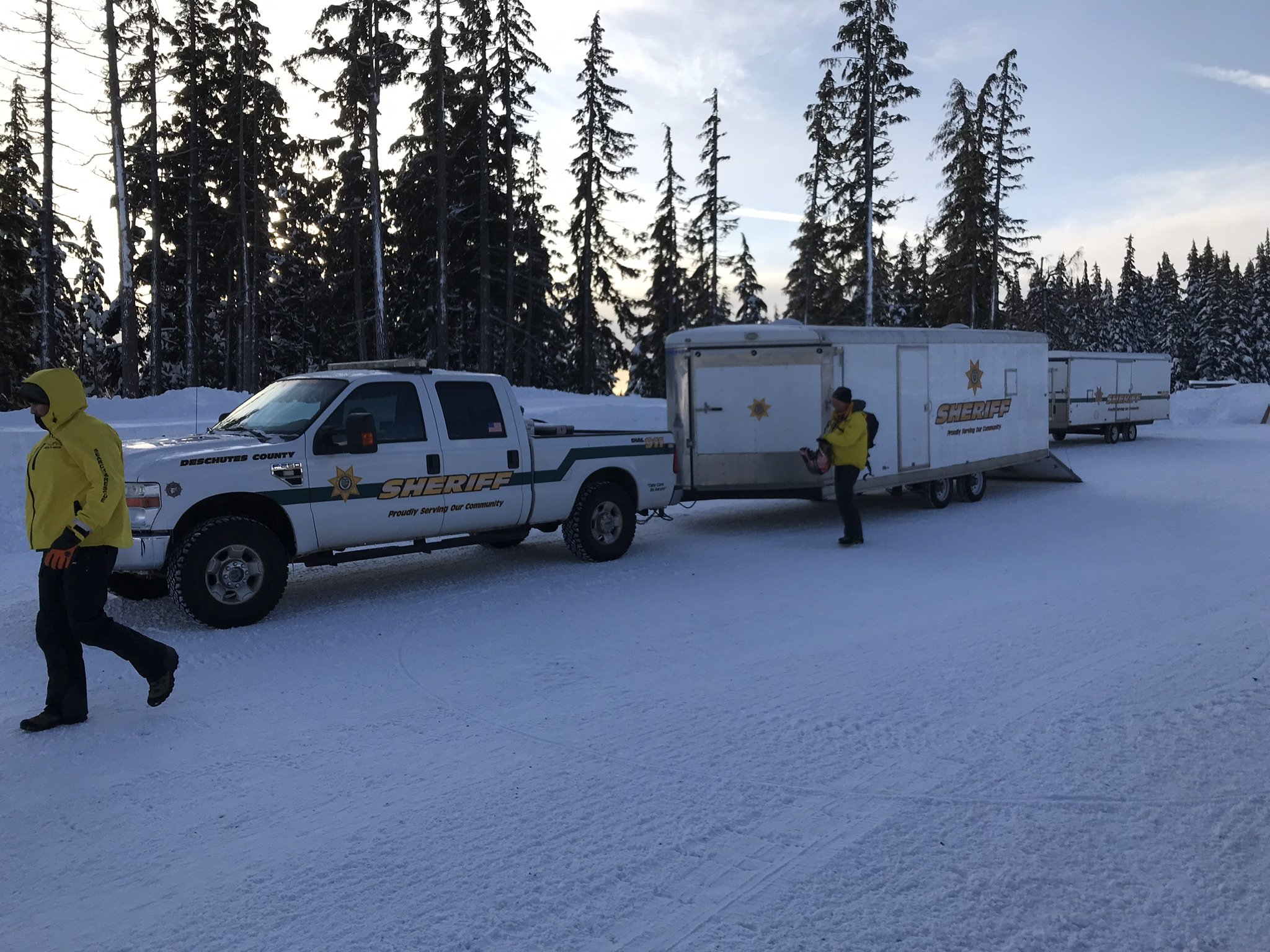 STUCK SNOWMOBILE RIDER RESCUED