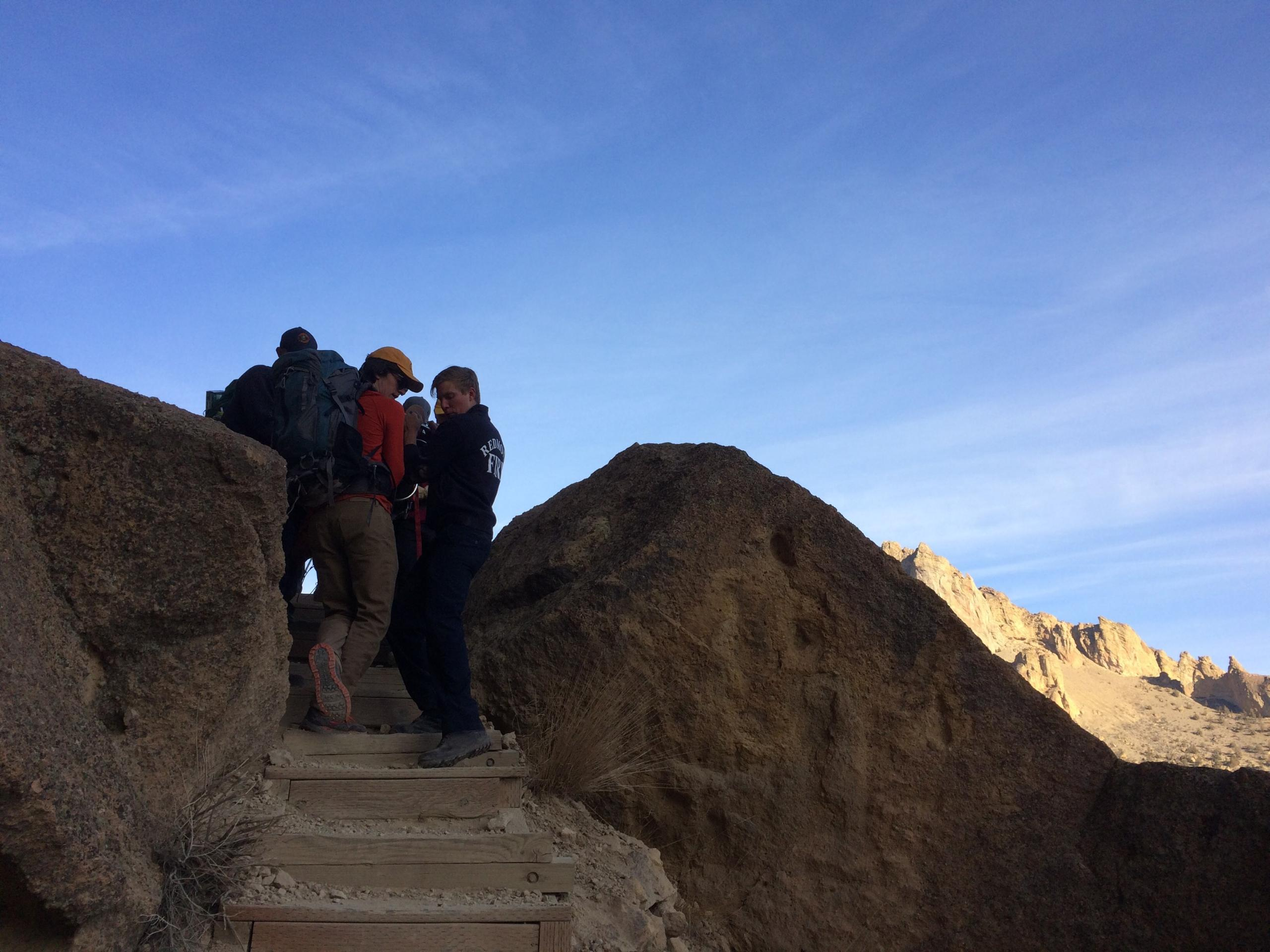 INJURED HIKER ASSISTED AT SMITH ROCK STATE PARK