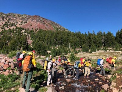 Injured Hiker Rescued