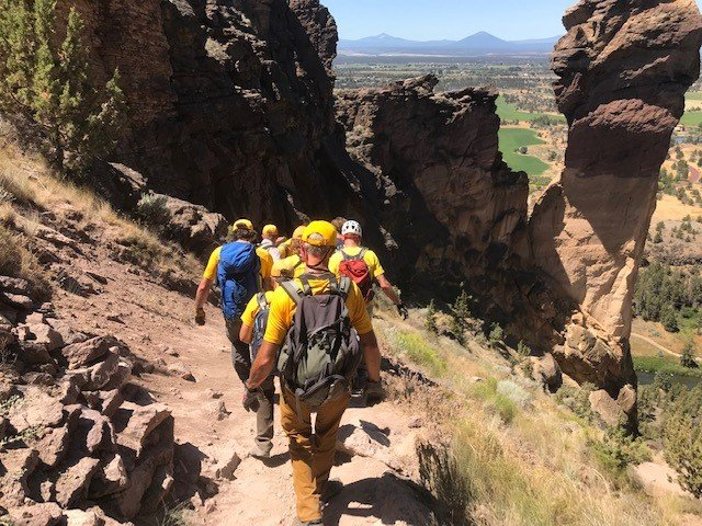 INJURED HIKER AT SMITH ROCK STATE PARK ASSISTED