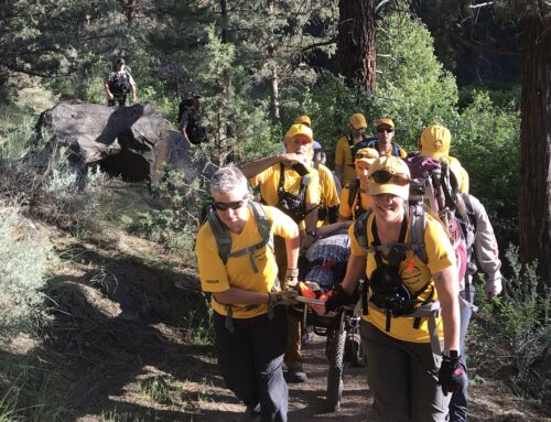 HIKER ASSISTED ON TUMALO STATE PARK TRAIL
