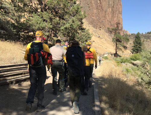 INJURED CLIMBER RESCUED AT SMITH ROCK STATE PARK