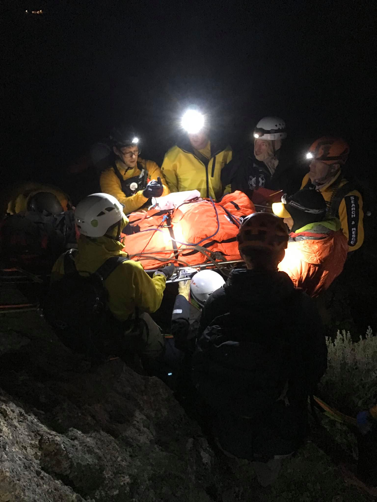 INJURED HIKER RESCUED AFTER LONG FALL AT SMITH ROCK STATE PARK