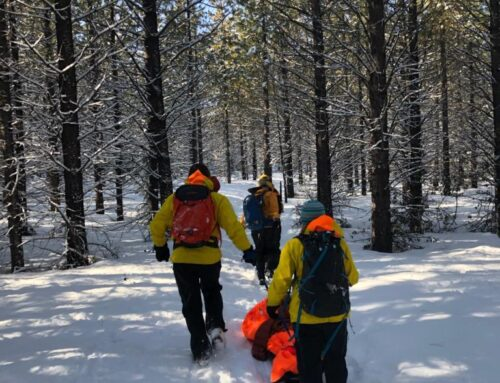 Deschutes County Sheriff's Office Search and Rescue assist bicyclist near Tumalo Falls