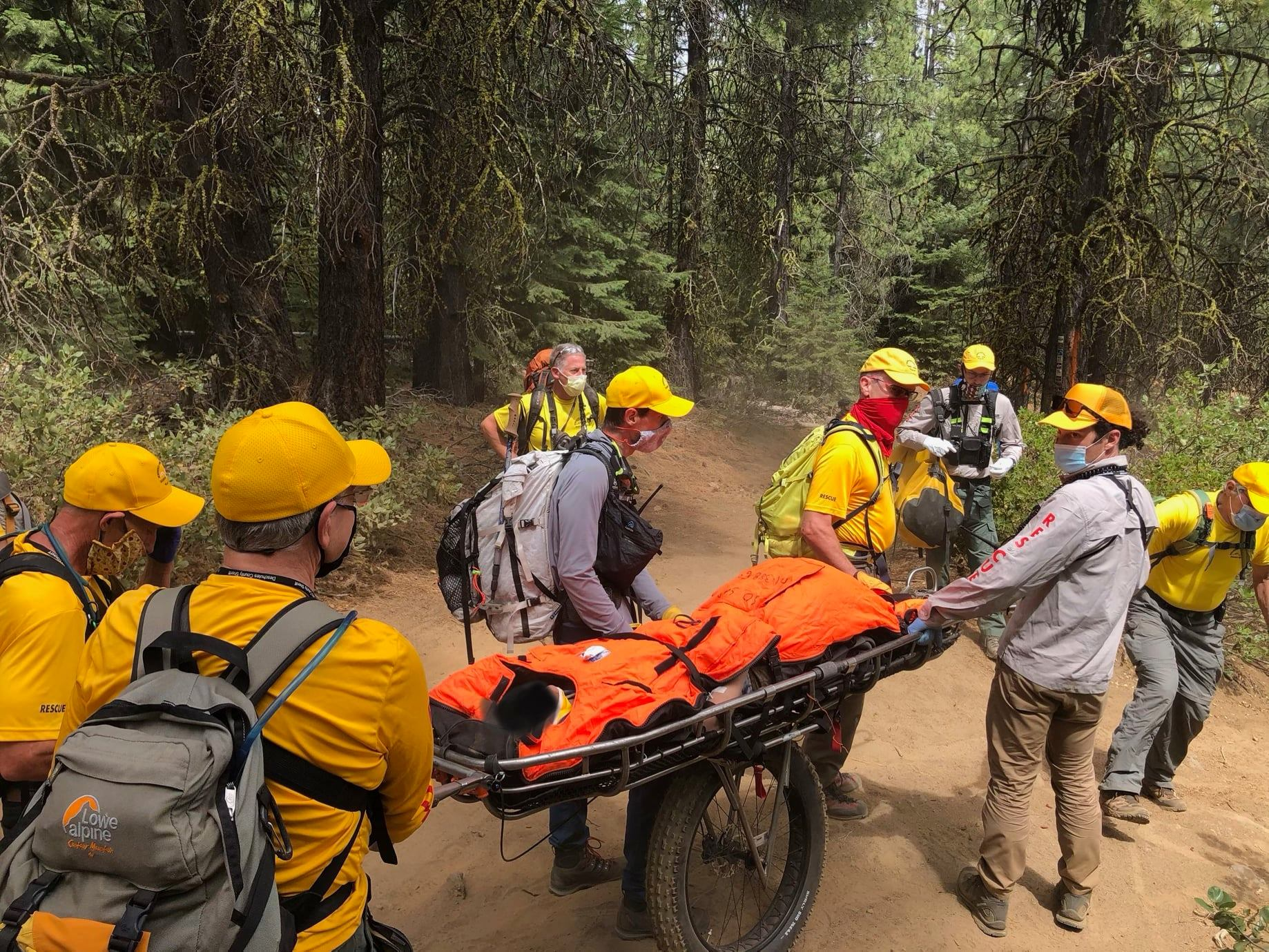 DESCHUTES COUNTY SHERIFF'S OFFICE SEARCH AND RESCUE ASSIST INJURED MOUNTAIN BIKER ON TIDDLYWINKS TRAIL WEST OF BEND
