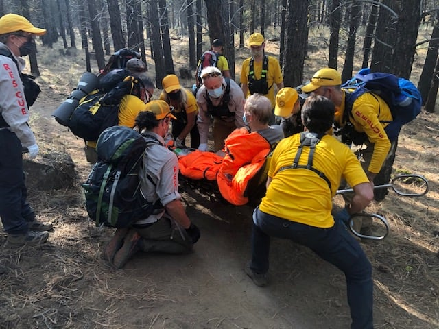 DESCHUTES COUNTY SHERIFF'S OFFICE SEARCH AND RESCUE ASSIST INJURED MOUNTAIN BIKE RIDER ON PHIL'S TRAIL, WEST OF BEND