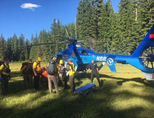 INJURED HORSEBACK RIDER RESCUED ON GREEN LAKES TRAIL
