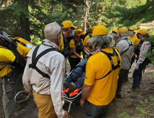 INJURED HORSE RIDER RESCUED FROM QUINN MEADOW