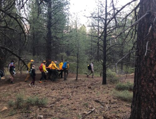 INJURED MOUNTAIN BIKER RESCUED FROM LOWER WHOOPS TRAIL