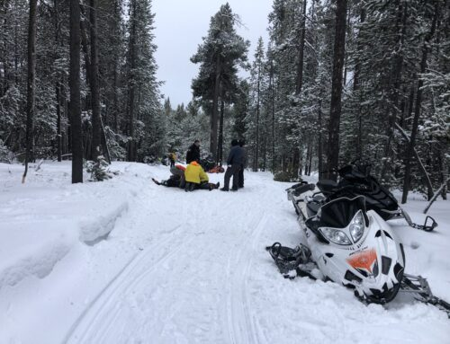 Injured Snowmobiler Rescued near Paulina Lake