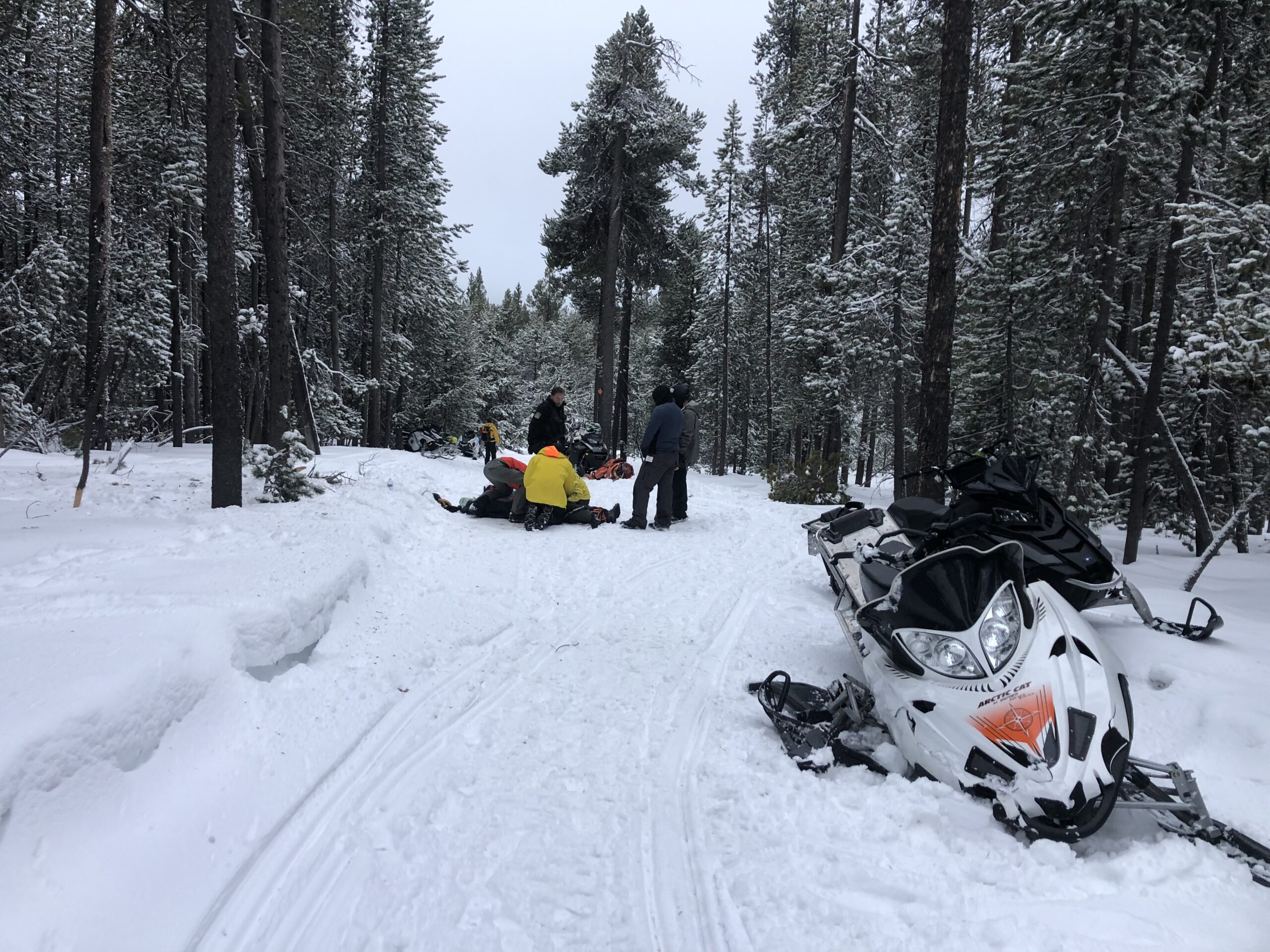 Injured Snowmobiler Rescued near Paulina Lake