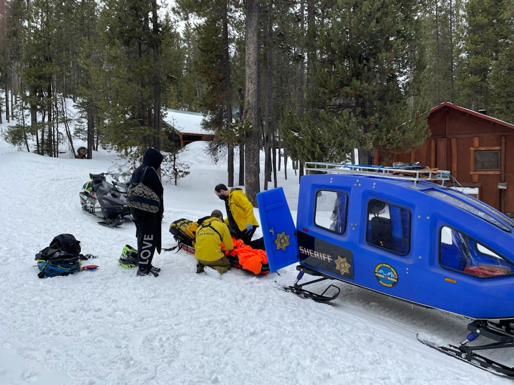 DESCHUTES COUNTY SHERIFF'S OFFICE SEARCH AND RESCUE ASSIST INJURED SLEDDER AT PAULINA LAKE LODGE