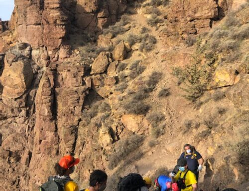 DESCHUTES COUNTY SEARCH AND RESCUE ASSISTS INJURED HIKER AT SMITH ROCK (PHOTO)