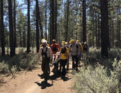DESCHUTES COUNTY SHERIFF'S OFFICE SEARCH AND RESCUE ASSIST MOUNTAIN BIKE RIDER AT PHIL'S TRAILHEAD