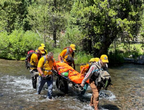 DESCHUTES COUNTY SHERIFF'S OFFICE SEARCH AND RESCUE ASSIST INJURED HIKER AT GREEN LAKES TRAILHEAD