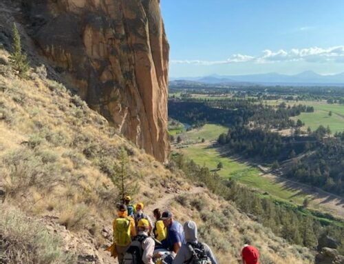Deschutes County Sheriff's Office Search and Rescue Volunteers assist two injured hikers at Smith Rock State Park