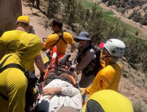 DESCHUTES COUNTY SHERIFF'S OFFICE SEARCH AND RESCUE ASSIST INJURED HIKER AT SMITH ROCK STATE PARK