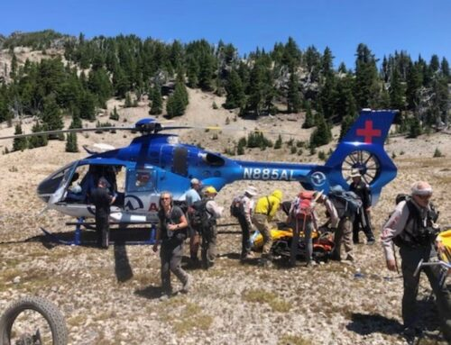 DESCHUTES COUNTY SHERIFF'S OFFICE SEARCH AND RESCUE MEMBERS ASSIST INJURED HIKER ON SOUTH SISTER